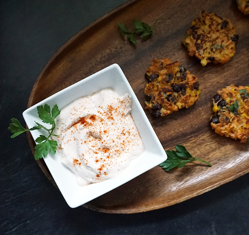 Sweet potato fritters from @bijouxandbits #fritters #appetizer #sweetpotato