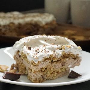 Coffee mousse icebox cake from @bijouxandbits #iceboxcake #mousse