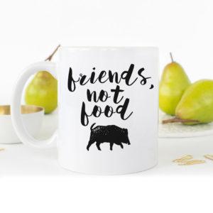 Friends not food mug