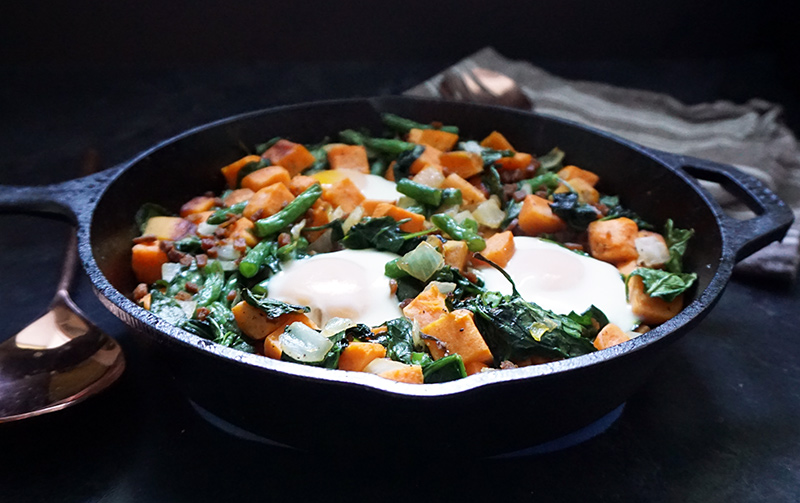 Sweet potato breakfast skillet from @bijouxandbits #breakfast #skillet