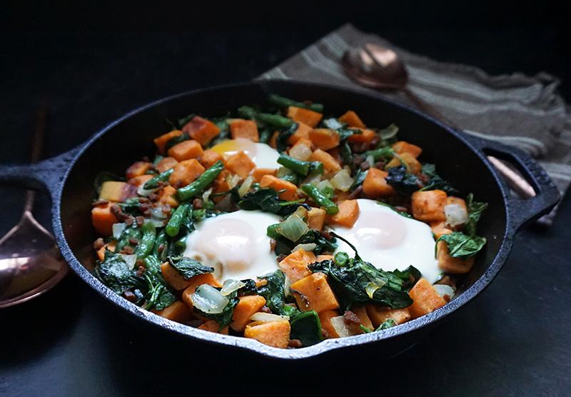 Sweet potato breakfast skillet from @bijouxandbits #breakfast #skillet