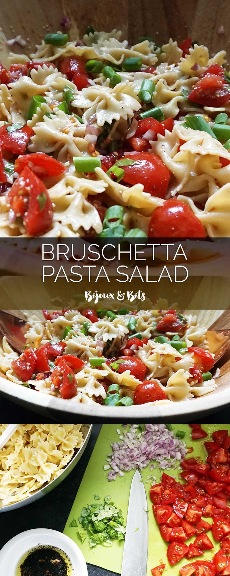 Bruschetta pasta salad from @bijouxandbits #italian #pasta
