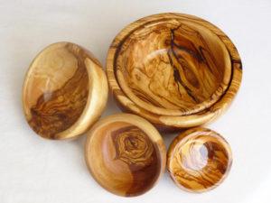 Olive wood salad bowls