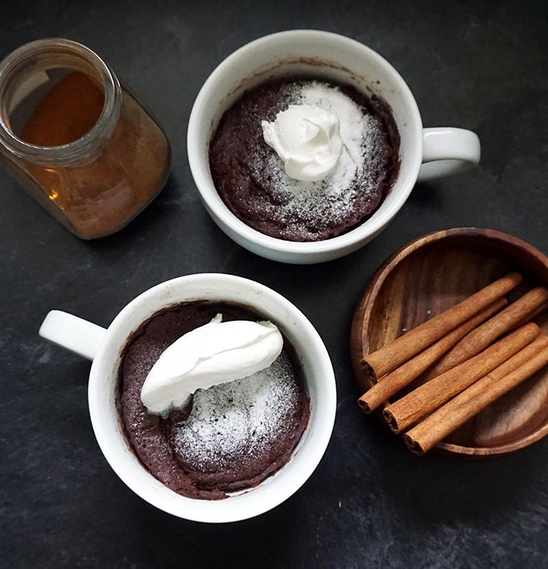 Mexican chocolate coffee mug cake from @bijouxandbits #mugcake
