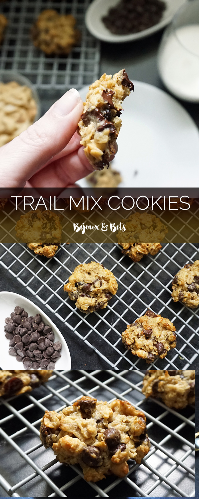 Trail mix cookies from @bijouxandbits #cookies #oatmeal