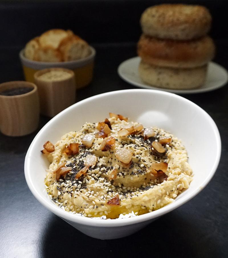 Everything bagel hummus from @bijouxandbits #hummus