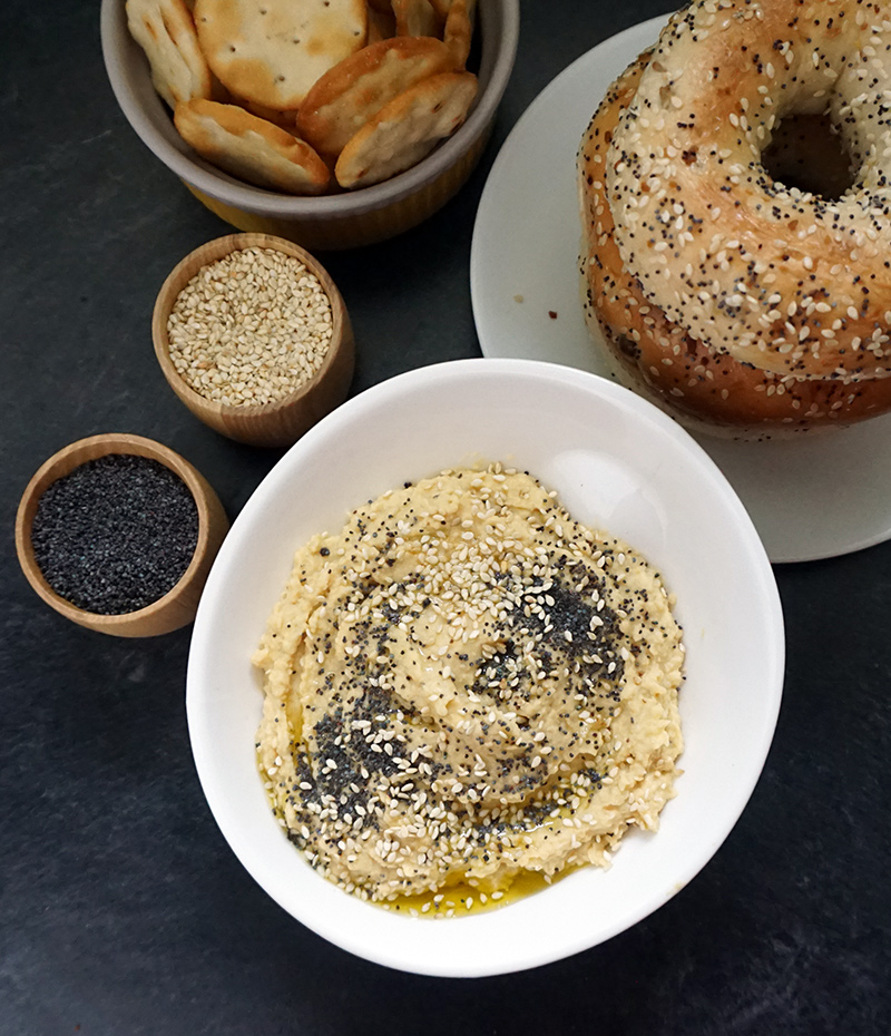 Everything bagel hummus from @bijouxandbits #hummus