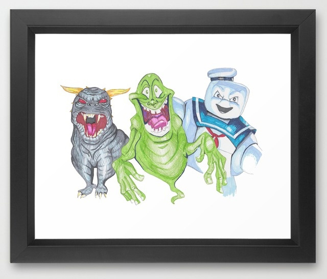 Ghostbusters villians art print by Catherine Clark -- @bijouxandbits