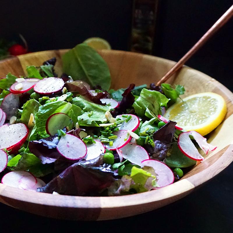 Spring pea and radish salad from @bijouxandbits #salad #recipe