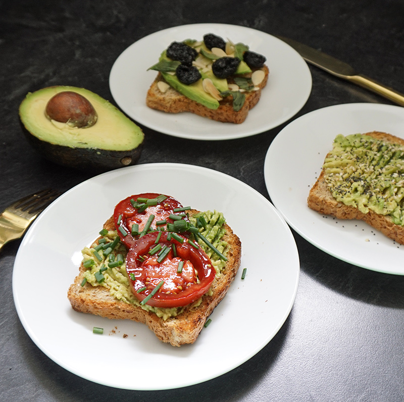 Avocado toast recipes 3 ways!