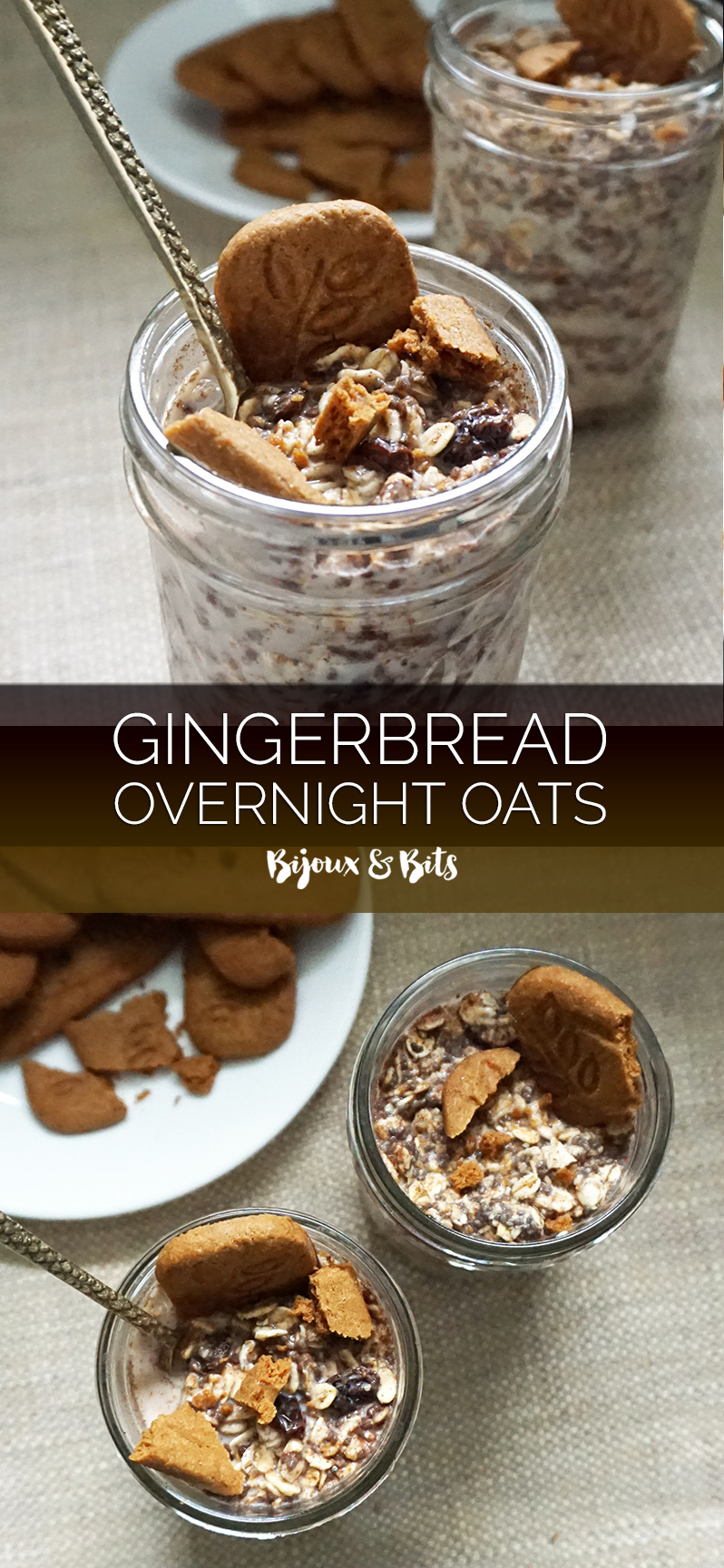 Gingerbread overnight oats from @bijouxandbits