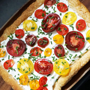 Herbed heirloom tomato tart