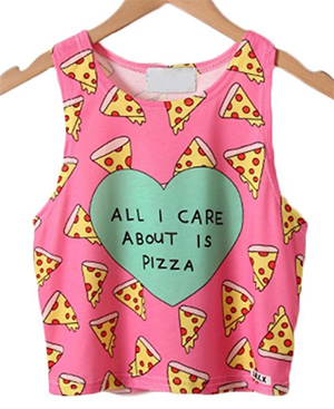 All I Care About it Pizza tank top