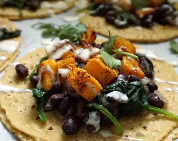 Butternut squash tacos (vegan)