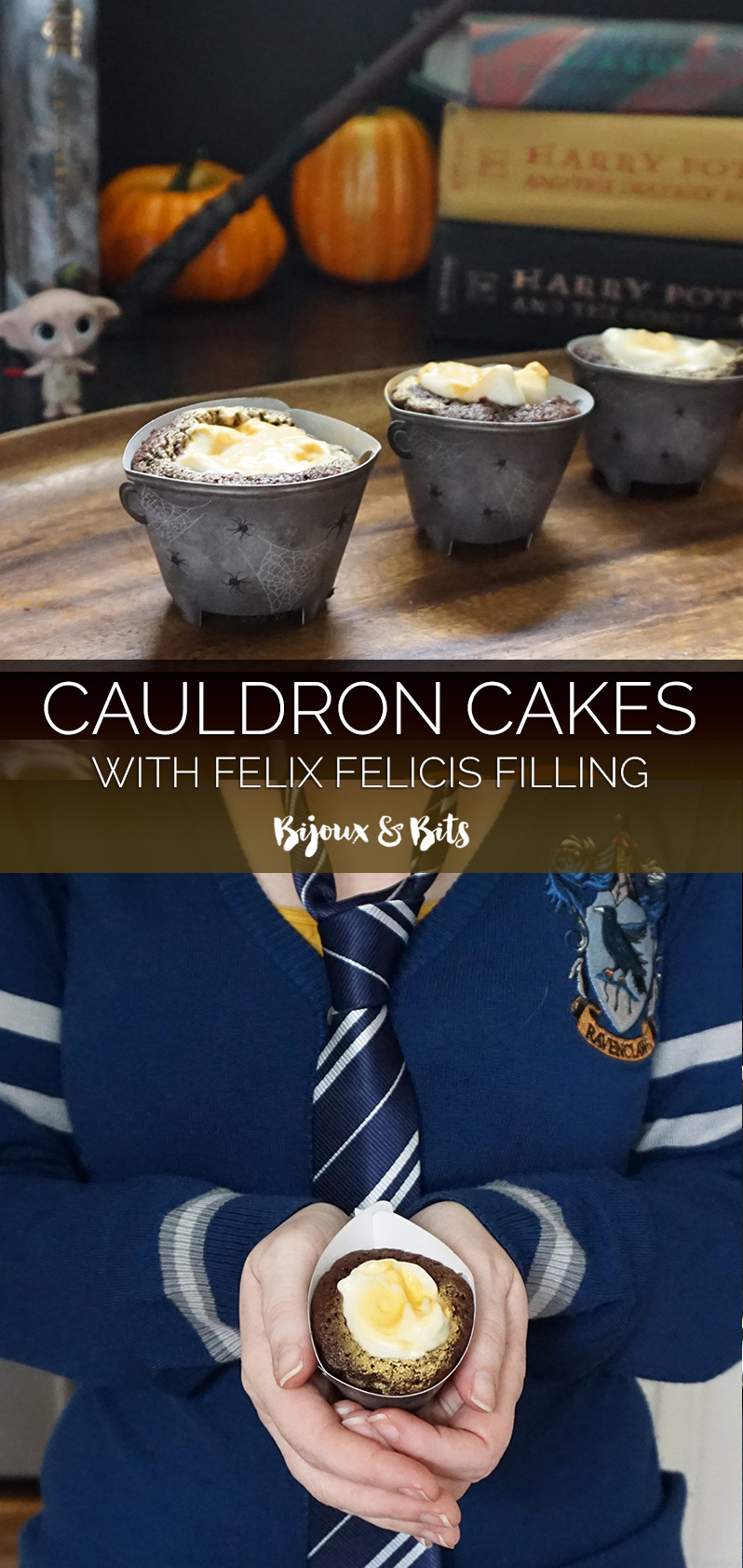 Cauldron cakes with Felix Felicis filling