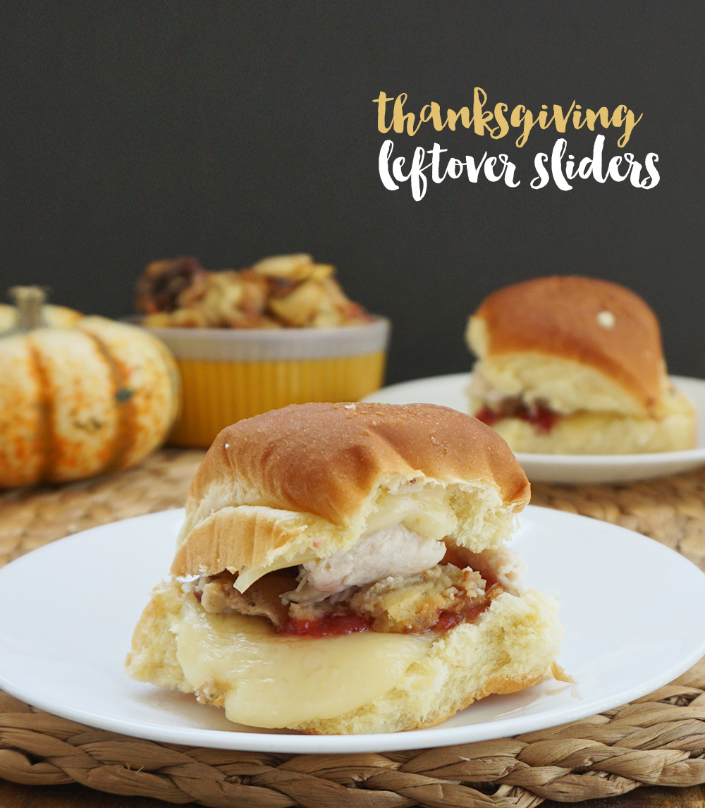 Thanksgiving leftover sliders from @bijouxandbits