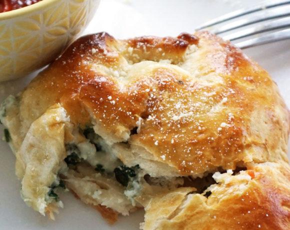 Sausage spinach ricotta pasties