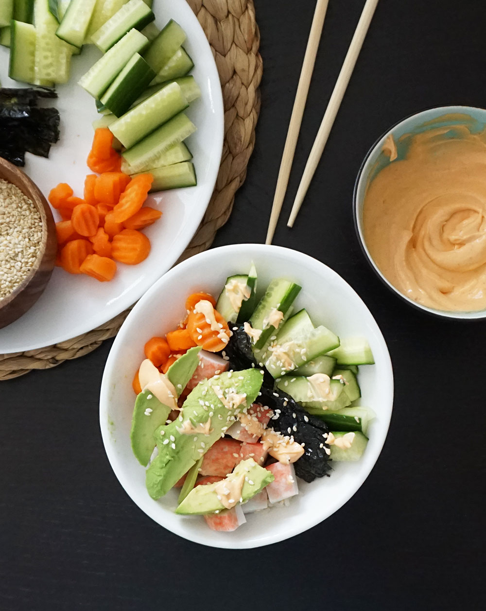 California roll bowl from @bijouxandbits