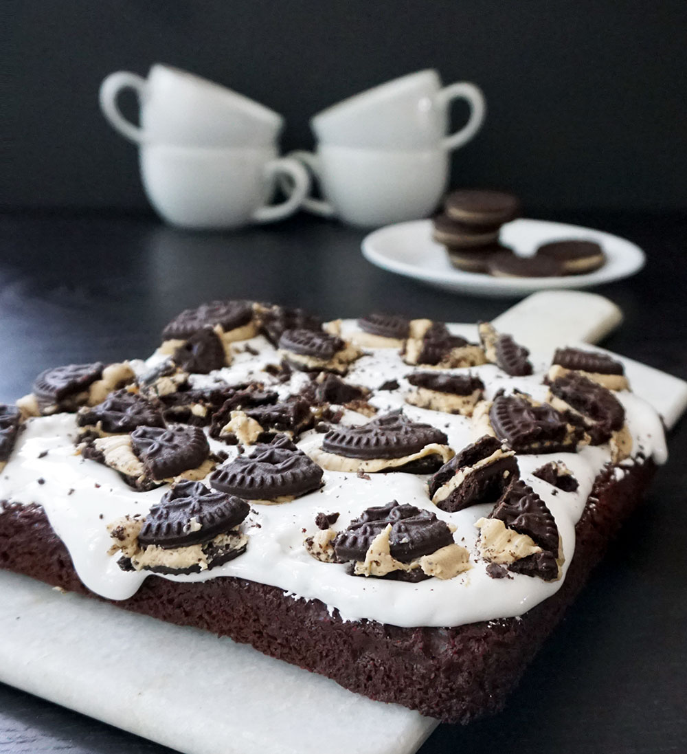 Mocha cookie brownies