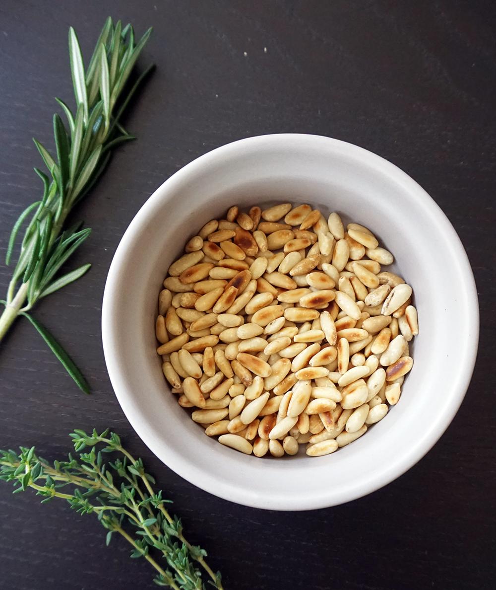 Pine nut brioche sausage stuffing