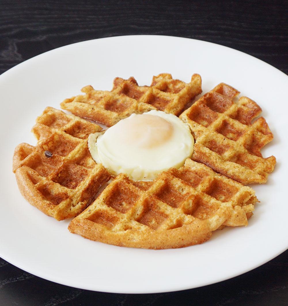 Egg in a waffle hole (keto recipe)